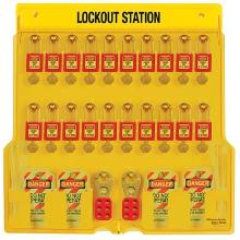 Masterlock 1484BP410 Lockout station Productfoto