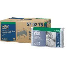 Tork Industrial Heavy-Duty Cloth Folded Blue werkdoek Productfoto