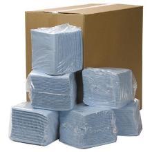 Non-woven poetsdoek, 31x32 cm, 18x56 doeken, blauw Productfoto