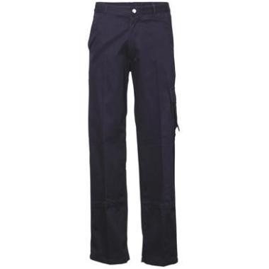 werkbroek katoen blauw kniezakken,64
