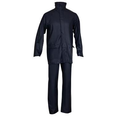 PU regenpak broek+jas m.blauw, 3XL