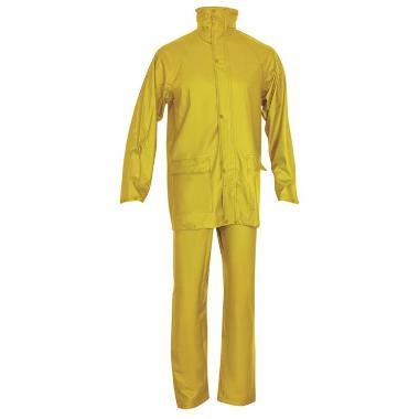 PU regenpak broek+jas geel, 3XL
