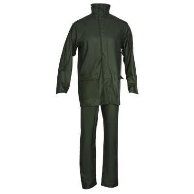 PU regenpak broek+jas groen, 3XL