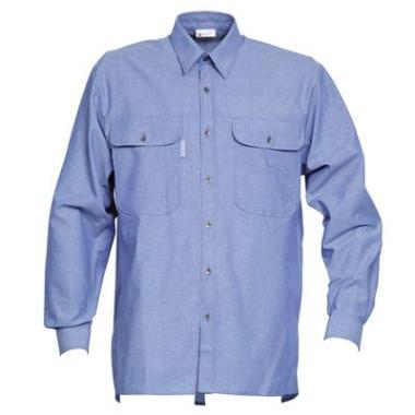 Havep Chambray hemd 1624 L/M blauw  4XL