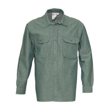 Havep Chambray hemd 1624 L/M groen  4XL