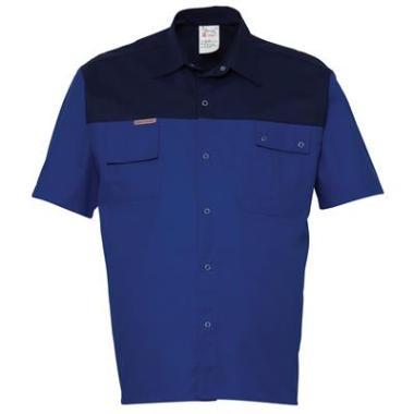 overhemd K/P 1564 K/M k.blauw/blauw 4XL