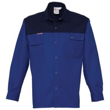 overhemd K/P 1569 L/M k.blauw/blauw 4XL