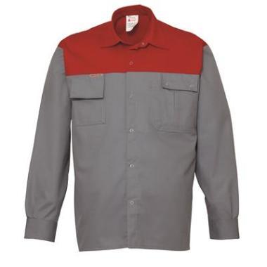 SPEC overhemd K/P 1569 L/M grijs/rd 3XL