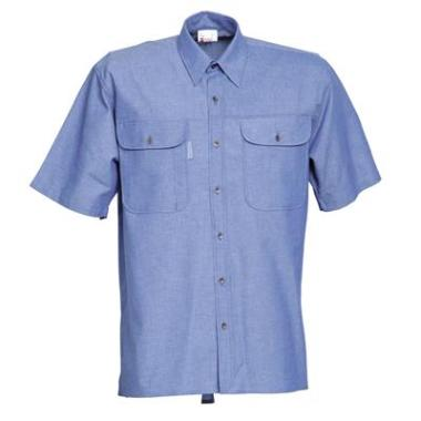 Havep Chambray hemd 1626 K/M blauw  4EL