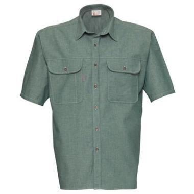 Havep Chambray hemd 1626 K/M groen  4XL
