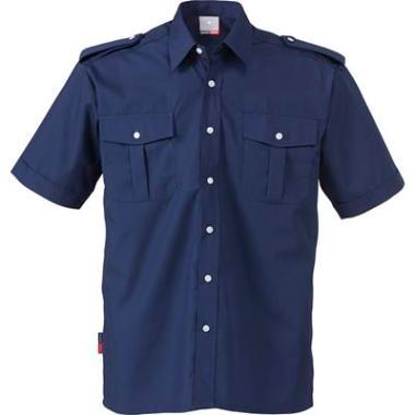 Fristads overhemd K/P KM blauw, M