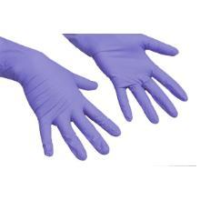 Handske engangs LiteTuff uden pudder str. S 100 styk nitril blå product photo