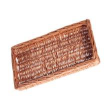 Brødkurv 45x25x5 cm Rektangulær Håndlavet flet Brun product photo