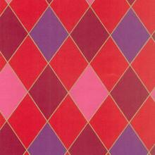 Gavepapir 55 cm x200 m Harlekin rød product photo