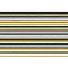 Gavepapir stribet Koks-Sølv-Guld 55cmx200m product photo