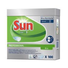 Maskinopvask Tabs Sun All in 1 Eco Blomsten med Saltil Sæbe/Afspænding product photo