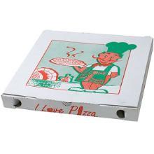 Pizzaæske 29x29x3 cm Hvid med Logo I Love Pizza product photo