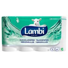 Køkkenrulle Lambi Classic 3-lag 13.7 m Nyfiber Hvid product photo