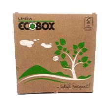 Pizzaæske 29x29x3 cm FSC-mærket Brun med Log Ecobox product photo