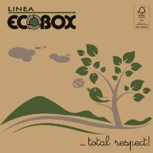 Pizzaæske 32x32x3 cm FSC-mærket Brun med Logo Ecobox product photo