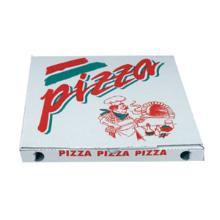 Pizzaæske 20x20x3 cm Standard Hvid med Tryk PizzaPizza product photo