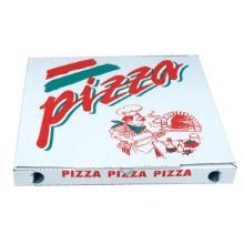 Pizzaæske 24x24x3 cm Standard Hvid med Tryk PizzaPizza product photo