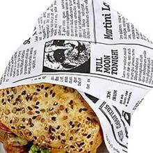 Sandwichpapir Old News 38x50 cm 50+6 gr Duplex PE-belagt SKÆRES TIL 19x25 cm product photo