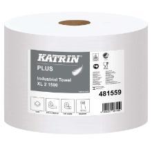 Aftørringsrulle Katrin XL 2-lag 570 m Hvid product photo