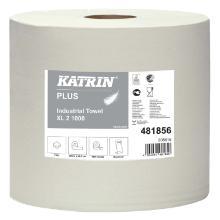 Aftørringsrulle Katrin XL Industrirulle 2-lag 380 m Hvid product photo