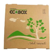 Pizzaæske 40x40x3 cm FSC-mærket Brun med Logo Ecobox product photo