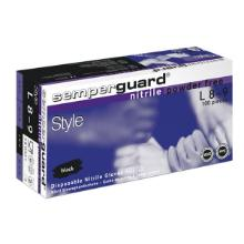 Handske engangs nitril str. L Semperguard Style uden pudder AQL 1.5 sort 100 stk product photo