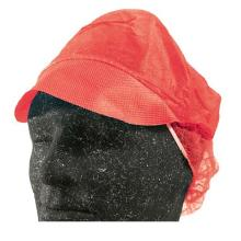 Hygiejnehat Snood cap str L med Skygge/Hårpose Rød product photo