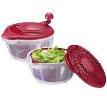 Salatslynge 5 ltr Ø26x14/21 cm Plast Klar/Rød product photo