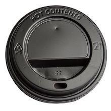 Plastlåg Ø90 mm Catersource Høj Sort til Kaffebæger product photo