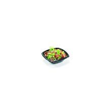 Salatbakke 720 ml 192x192x65 mm Løst klart låg Bionedbrydelig PLA Sort product photo