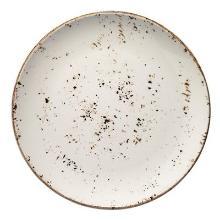 Tallerken Bonna Grain Ø30 cm Flad Porcelæn Hvid med Brun stænk product photo