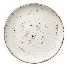 Tallerken Bonna Grain Ø21 cm Flad Porcelæn Hvid med Brun stænk product photo