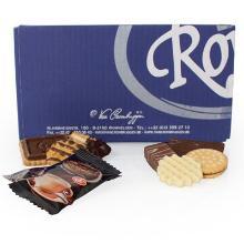 Småkage Royal assorteret mix med og uden chokolade indpakket product photo