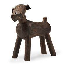 Hund Kay Bojesen 7.3x3.2x7.5 cm Røget egetræ product photo