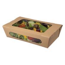 Salatbakke 160/140x120/100x50 mm med PE Brun product photo