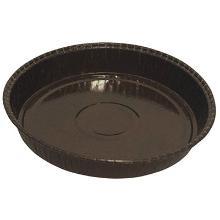 Kageform ø218/231x25 mm pap med PET brun product photo