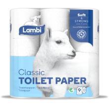 Toiletpapir Lambi 3-lag 20,62 m Hvid product photo