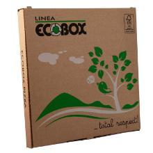 Pizzaæske 24x24x3 cm Brun med Logo Ecobox product photo