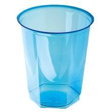Plastglas 20 cl Ø78x92 mm Hexagonal PS Blå Transparent product photo