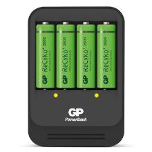 Oplader Smart GP til AA og AAA batt. Inkl 4 stk AA batterier product photo