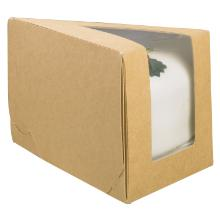 Kageæske 144x85x90 mm Trekant med Rude Karton PLA Brun/Hvid product photo