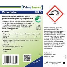 Vaskepulver Prime Source Mild Højkoncentrat Svanemærket uden Parfume 10 kg product photo