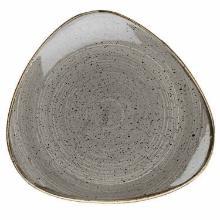 Tallerken Stonecast 26.5 cm Trekant Porcelæn Grå product photo