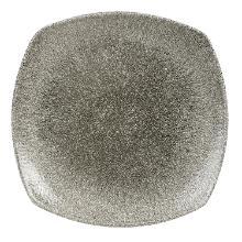 Tallerken Raku 21.5 cm Firkantet Porcelæn Sort product photo