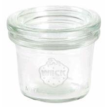 Patentglas Weck 35 ml Ø5.25x3.8 cm med Låg Glas product photo